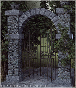 Cemetery Gate 3D Models lilflame
