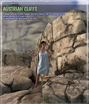 Photo Props: Austrian Cliffs 3D Models ShaaraMuse3D
