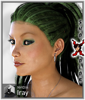 ShoXoloR for Dreaded Ponytail 3D Figure Essentials ShoxDesign