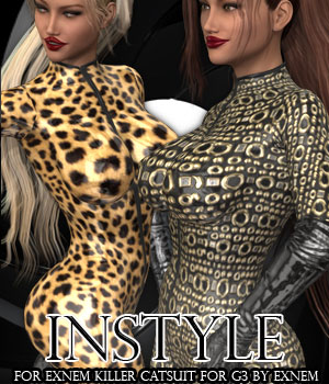 InStyle - Exnem Killer Catsuit for G3 3D Figure Assets -Valkyrie-