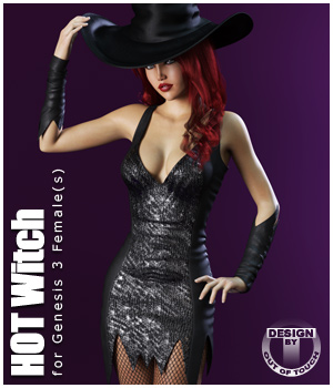 HOT Witch for Genesis 3 Female(s) 3D Figure Assets outoftouch