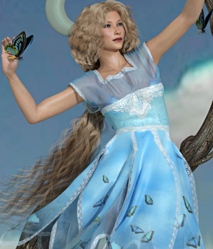 Faery Princess for Princess Dress 3D Figure Essentials Varnayrah