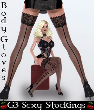 B#1-G3 SexyStockings Bodyglove Kit 3D Figure Assets lululee