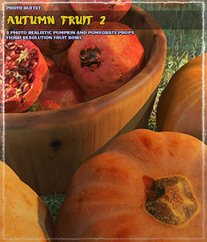 Photo Buffet: Autumn Fruit 2 3D Models ShaaraMuse3D
