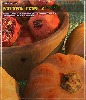 Photo Buffet: Autumn Fruit 2 - Extended License 3D Models Extended Licenses ShaaraMuse3D