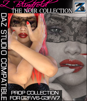 Z Blindfold - Noir Collection - G2F/V6 - G3F/V7 3D Figure Essentials 3D Models Zeddicuss