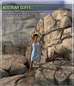 Photo Props: Austrian Cliffs - Extended License 3D Models Gaming Extended Licenses ShaaraMuse3D
