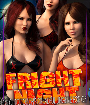 FrightNight for Dreadful Lingerie 3D Figure Assets ShanasSoulmate