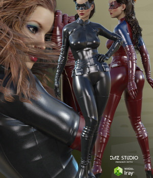 Dark Knight for Genesis 3 Female(s) 3D Figure Essentials RainbowLight
