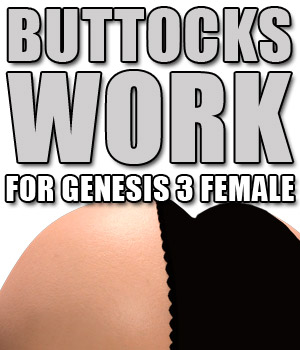 Buttocks Work G3F 3D Figure Assets powerage