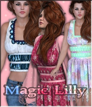 AM: Magic-Lilly 38 Styles 3D Figure Assets LUNA3D