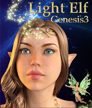 LIGHT ELF for Genesis 3 Female(s) 3D Figure Assets Mar3D