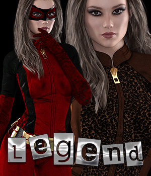 LeGEnd::Dark Knight Genesis 3 Female(s) 3D Figure Assets 2D Graphics 3DSublimeProductions