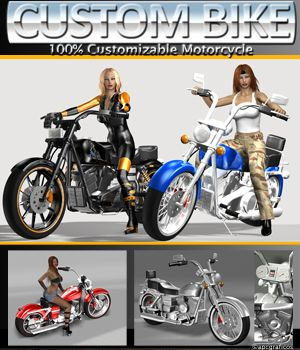 Custom Bike 3D Models apcgraficos