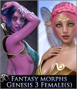 Fantasy Shapes: Heroes for Genesis 3 Females(s) by Xameva