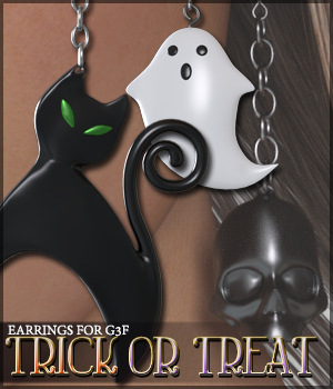 Trick or Treat Earrings G3F 3D Figure Essentials 3D Models Sveva
