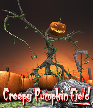 Creepy Pumpkin Field by ile-avalon