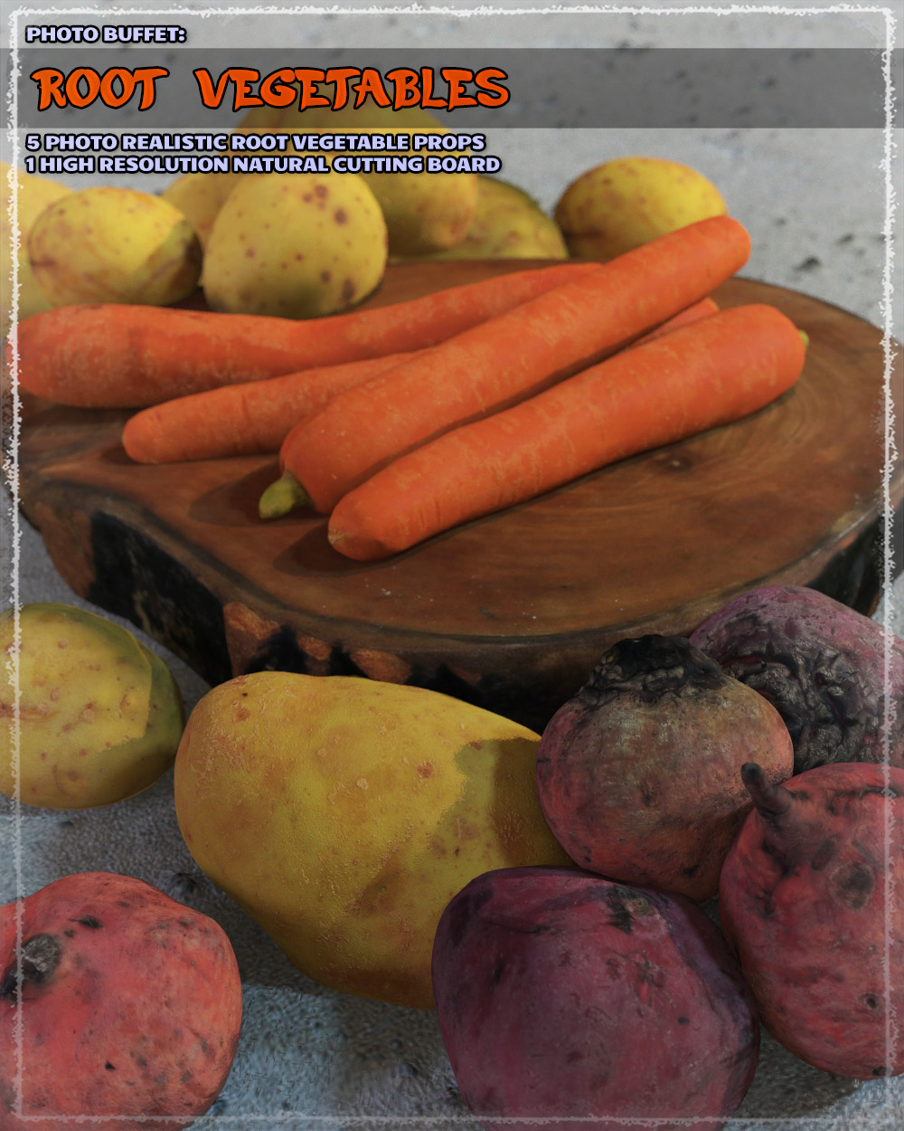Photo Buffet: Root Vegetables by ShaaraMuse3D