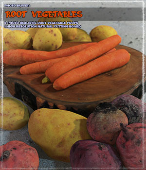 Photo Buffet: Root Vegetables 3D Models ShaaraMuse3D