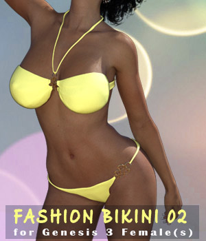 Fashion Bikini 02 for G3F 3D Figure Assets xtrart-3d