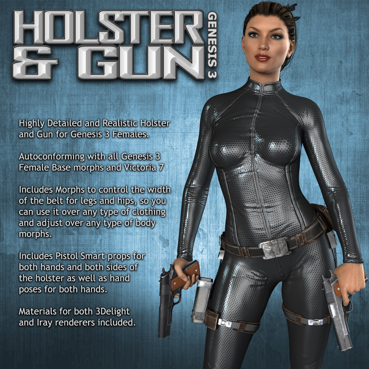 Exnem Holster & Gun for G3