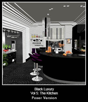 Black Luxury Vol 5: The Kitchen 3D Figure Essentials 3D Models ICRDesign