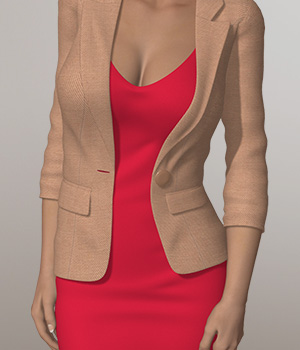 Office Suit VIII 3D Figure Assets 3D-Age
