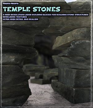 Photo Props: Temple Stones 3D Models ShaaraMuse3D