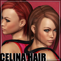 Celina Hair - Extended License 3D Figure Assets Extended Licenses outoftouch