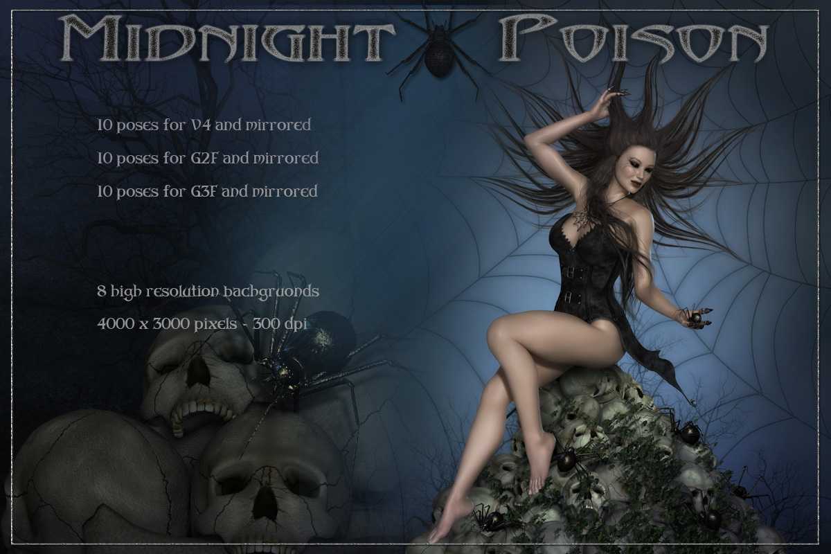 Midnight Poison - Backgrounds and Poses