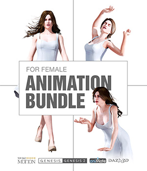 Charming Animation for Genesis Female Character Bundle 3D Figure Assets Reallusion Software - CC3 - iClone Reallusion