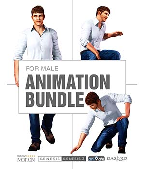 Suave Animation Bundle for Genesis Male Characters  Reallusion Software - CC3 - iClone 3D Figure Assets Reallusion