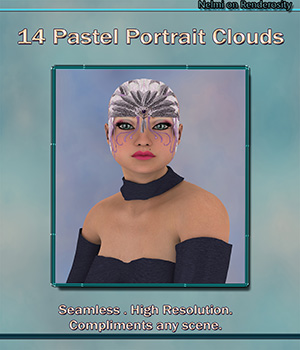 14 Pastel Portrait Cloud Backgrounds 2D Graphics nelmi