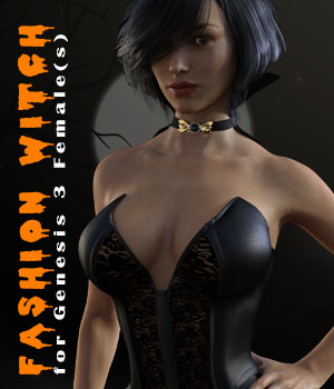 Fashion Witch for Genesis 3 F 3D Figure Assets xtrart-3d