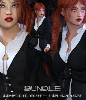 Black Lust Bundle G2F & G3F 3D Figure Essentials 3D Models nirvy