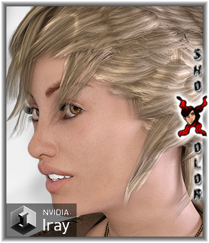 ShoXoloR for Razor Flip Hair 3D Figure Essentials ShoxDesign