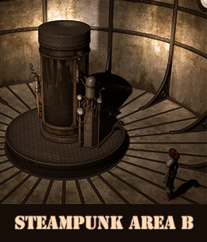 Steampunk area B 3D Models 1971s