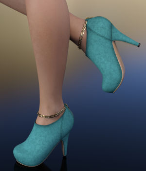 Stacie Ankle Boots for Genesis 3 Female 3D Figure Essentials WildDesigns