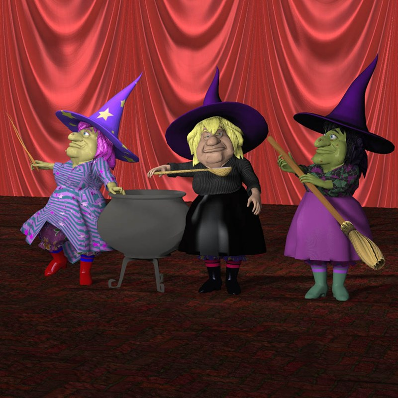 V Powers Sister Witches (for Poser) by VanishingPoint