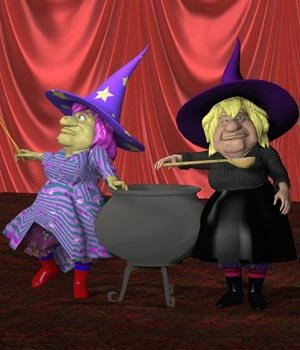 V Powers Sister Witches (for Poser) 3D Models VanishingPoint