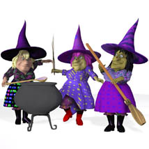 V Powers Sister Witches (for Poser) image 1