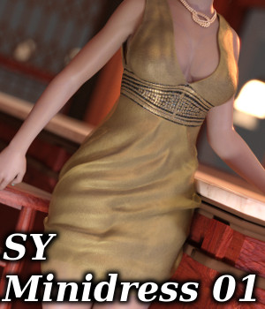 SY Minidress 01 Genesis 3 Female 3D Figure Essentials SickleYield