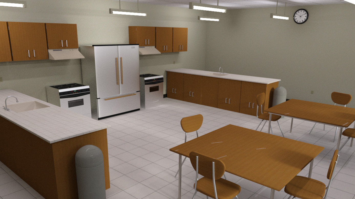 Home Economics Classroom (Poser, DS and Obj)