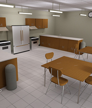 Home Economics Classroom (Poser, DS and Obj) 3D Models RPublishing