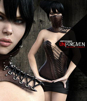 Unforgiven for Genesis 3 Female(s) 3D Figure Essentials Pretty3D