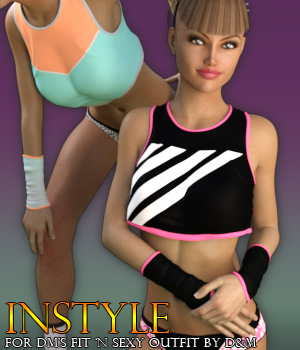 InStyle - DM's FIT 'n SEXY Outfit 3D Figure Assets -Valkyrie-