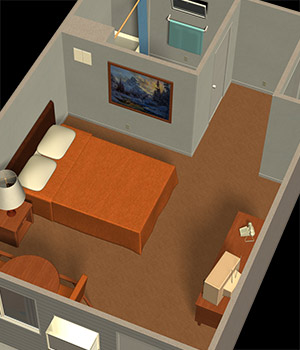 The Motel Room 3D Models Richabri