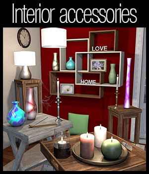 Everyday items, Interior accessories 3D Models 2nd_World