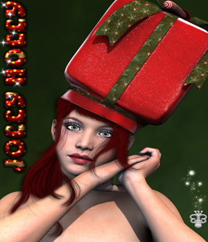 Jolly Holly Outfity For Genesis 3 Female 3D Figure Assets The_Row_House