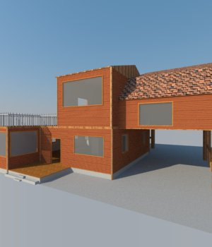 Modern Wood House  3D Models holydragon78